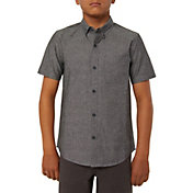 O'Neill Boys' Banks Short Sleeve Button Up Shirt