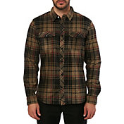 O'Neill Men's Glacier Plaid Fleece Flannel Long Sleeve Shirt