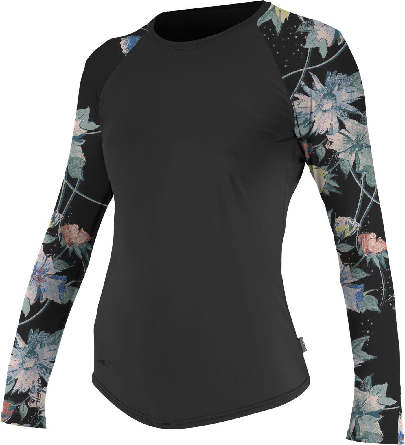 O'Neill Women's Sleeve Print Long Sleeve Rash Guard