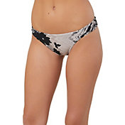 O'Neill Women's Beaumont Shirred Tab Side Bikini Bottom
