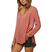 O'Neill Women's Houston Woven Long Sleeve Shirt