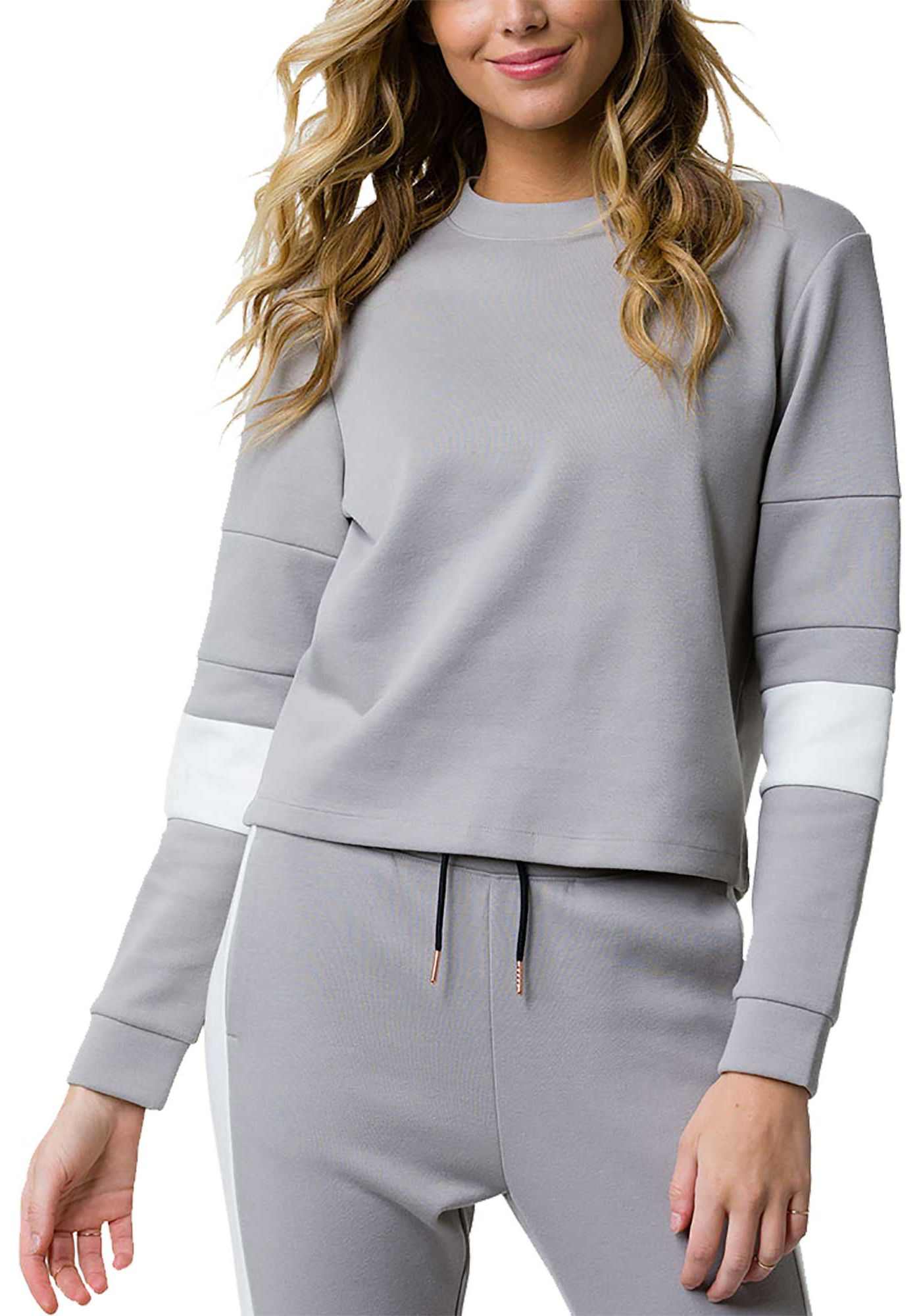Onzie Women's Blocked Crew Pullover