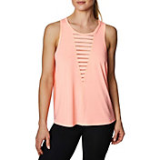 Betsey Johnson Women's Deep V Insert Swing Tank Top