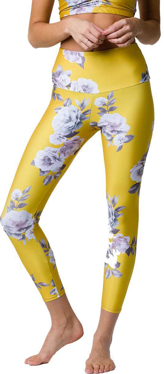 04f2cd9be4b2f4 Onzie Women's High Basic Midi Golden Floral Legging | DICK'S ...