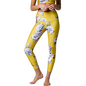 Onzie Women's High Basic Midi Golden Floral Legging