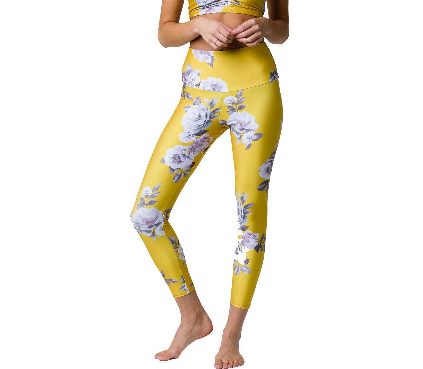 Onzie Women's High Basic Midi Golden Floral Legging