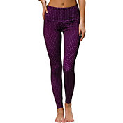 Onzie Women's Aubergine Dot High Rise Leggings