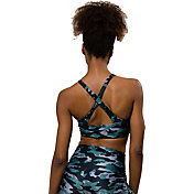 Onzie Women's Distressed Camo Heart Sports Bra