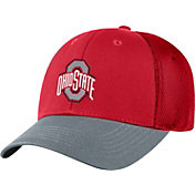 OSU Men's Ohio State Buckeyes Scarlet Twill Elite Mesh 1Fit Flex Hat