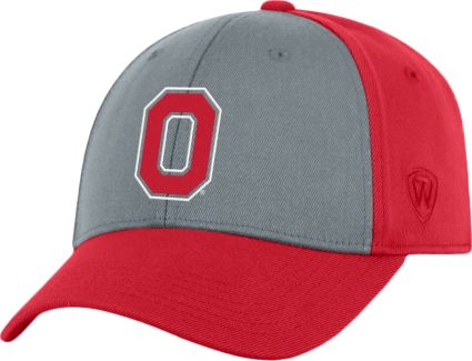 new style 8de0f a59a6 ... czech osu mens ohio state buckeyes grey scarlet two tone adjustable hat  ba278 2b11a