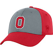 OSU Men's Ohio State Buckeyes Grey/Scarlet Two Tone Adjustable Hat