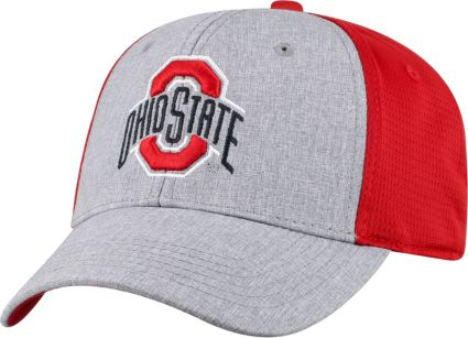 11b33a87c5d ... new zealand osu mens ohio state buckeyes gray scarlet faboo 1fit hat  bf649 376f0