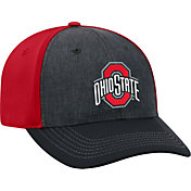 OSU Men's Ohio State Buckeyes Grey/Scarlet Reach 1Fit Flex Hat