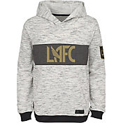 adidas Youth Los Angeles FC Logo White Heathered Hoodie
