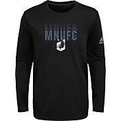 adidas Youth Minnesota United FC Stack Repeat Black Long Sleeve Shirt