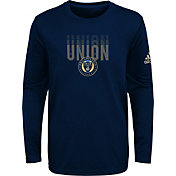 adidas Youth Philadelphia Union Stack Repeat Navy Long Sleeve Shirt