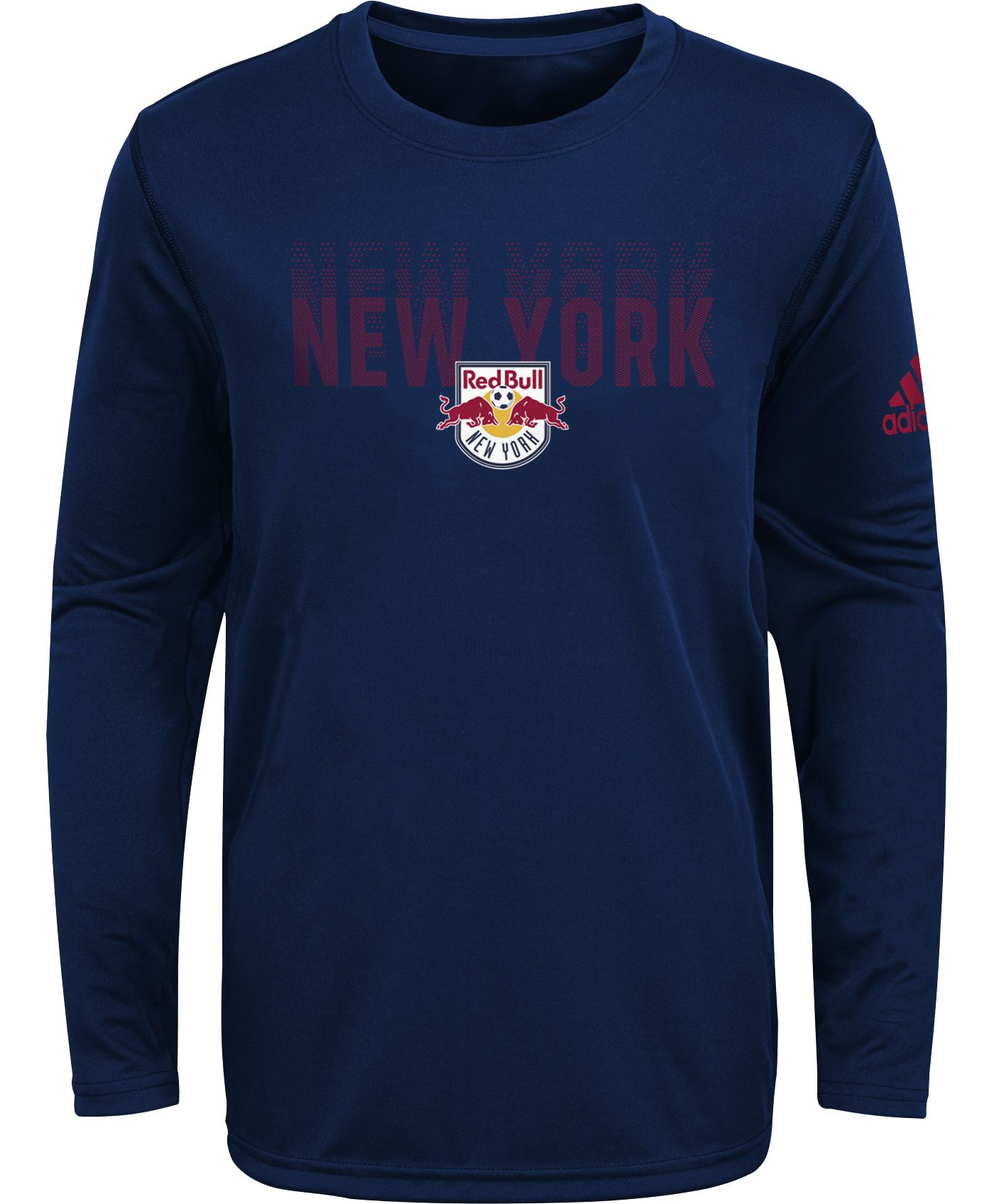 adidas Youth New York Red Bulls Stack Repeat Navy Long Sleeve Shirt