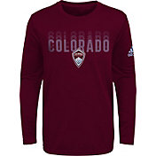 adidas Youth Colorado Rapids Stack Repeat Red Long Sleeve Shirt