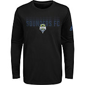 adidas Youth Seattle Sounders Stack Repeat Black Long Sleeve Shirt