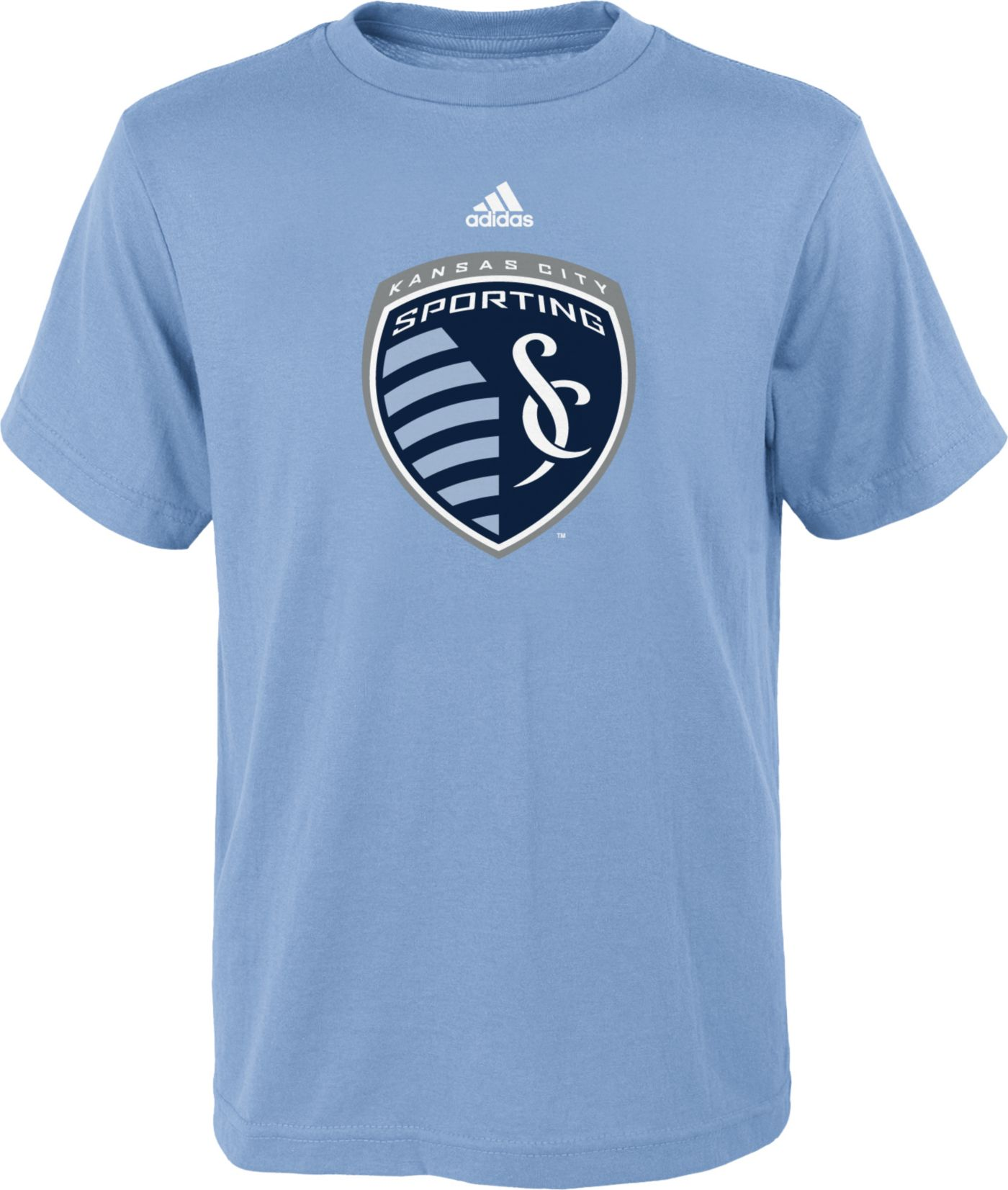 adidas Youth Sporting Kansas City Primary Logo Blue T-Shirt