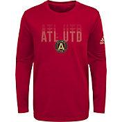 adidas Youth Atlanta United Stack Repeat Red Long Sleeve Shirt