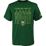 adidas Youth Portand Timbers The Wall Green Performance T-Shirt