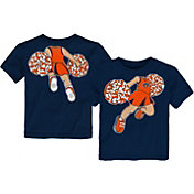 Gen2 Toddler Girls' Auburn Tigers Blue Pom Pom Cheer T-Shirt