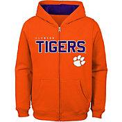 Outerstuff Youth Clemson Tigers Orange Full-Zip Fleece Hoodie