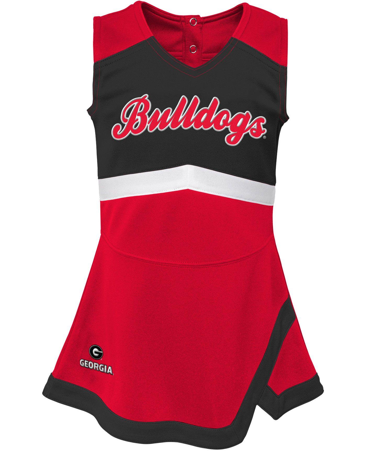 Gen2 Girls' Georgia Bulldogs Red Cheer Captain 2-Piece Jumper Dress