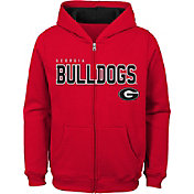 Gen2 Youth Georgia Bulldogs Red Full-Zip Fleece Hoodie