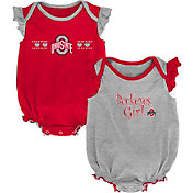Outerstuff Infant Ohio State Buckeyes Scarlet/Grey Homecoming 2-Piece Onesie Set