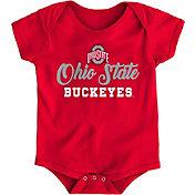 Gen2 Newborn Ohio State Buckeyes Scarlet Awesome Script Onesie