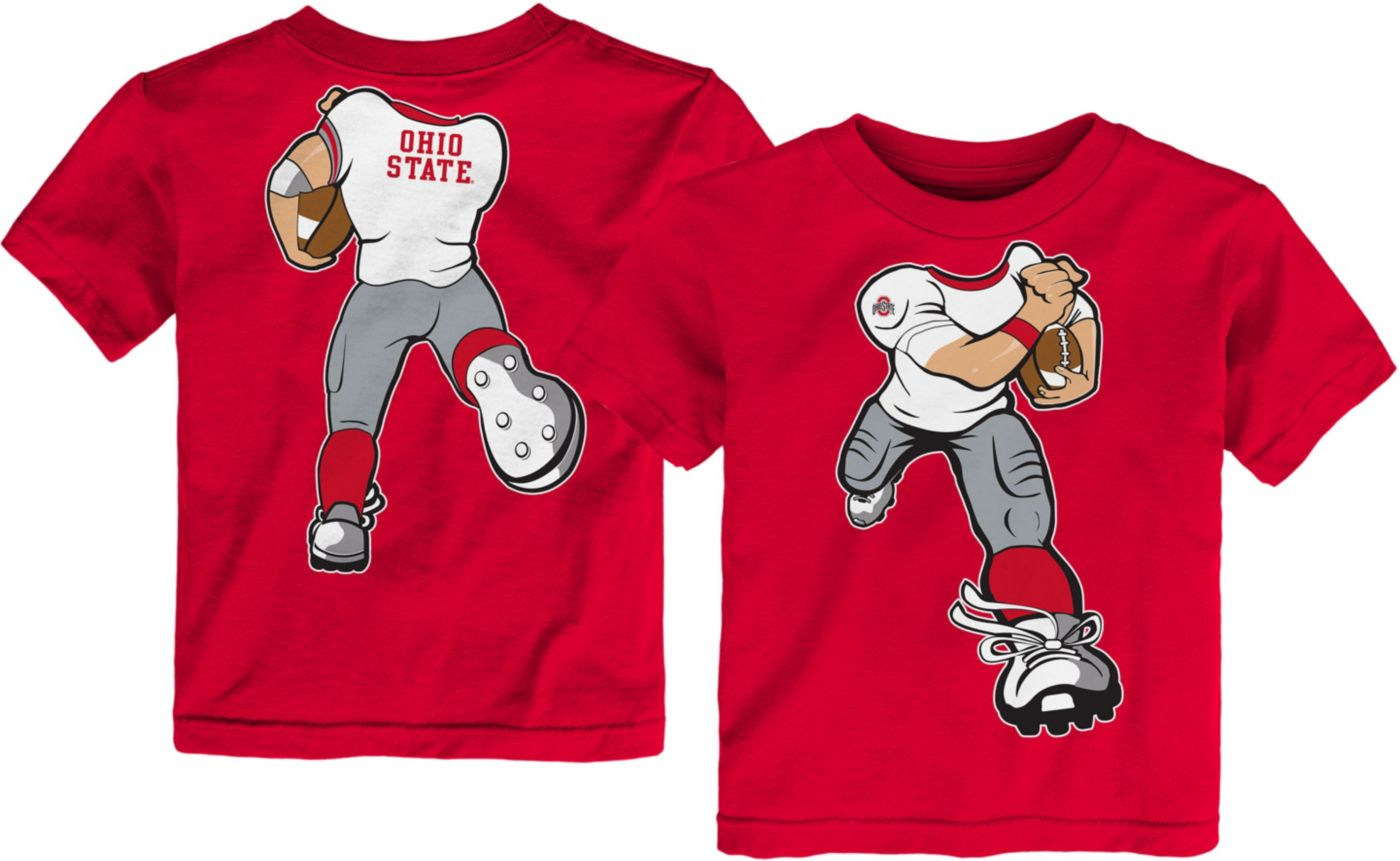 Gen2 Toddler Ohio State Buckeyes Scarlet Football Dreams T-Shirt