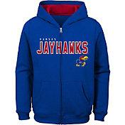Gen2 Youth Kansas Jayhawks Blue Full-Zip Fleece Hoodie