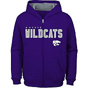 Outerstuff Youth Kansas State Wildcats Purple Full-Zip Fleece Hoodie