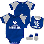 Gen2 Infant Kentucky Wildcats Blue 50 Yard Dash 3-Piece Onesie Set