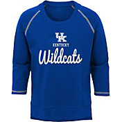 Outerstuff Youth Girls' Kentucky Wildcats Blue Overthrow Long Sleeve T-Shirt