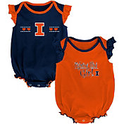 Gen2 Infant Illinois Fighting Illini Blue/Orange Homecoming 2-Piece Onesie Set