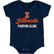 Gen2 Newborn Illinois Fighting Illini Blue Awesome Script Onesie
