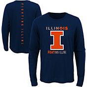 Outerstuff Youth Illinois Fighting Illini Blue Ultra Long Sleeve T-Shirt