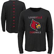 Outerstuff Youth Louisville Cardinals Ultra Long Sleeve Black T-Shirt