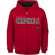Outerstuff Youth Louisville Cardinals Cardinal Red Full-Zip Fleece Hoodie