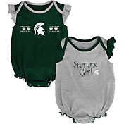 Outerstuff Infant Michigan State Spartans Green/Grey Homecoming 2-Piece Onesie Set