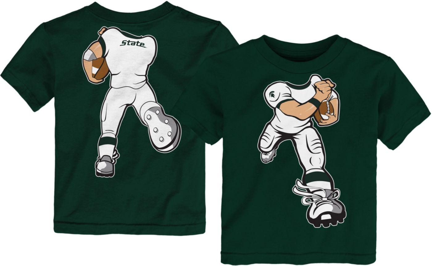 Gen2 Toddler Michigan State Spartans Green Football Dreams T-Shirt
