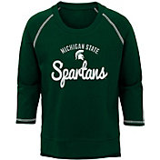Outerstuff Youth Girls' Michigan State Spartans Green Overthrow Long Sleeve T-Shirt