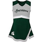 Outerstuff Girls' Michigan State Spartans Green Cheer Captain 2-Piece Jumper Dress