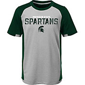 Outerstuff Youth Michigan State Spartans Grey/Green Circuit Breaker Performance T-Shirt
