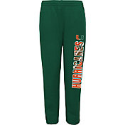 Gen2 Youth Miami Hurricanes Green Origin Fleece Pants