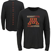 Outerstuff Youth Minnesota Golden Gophers Ultra Long Sleeve Black T-Shirt