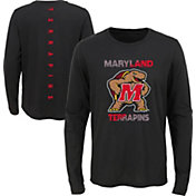 Outerstuff Youth Maryland Terrapins Ultra Long Sleeve Black T-Shirt